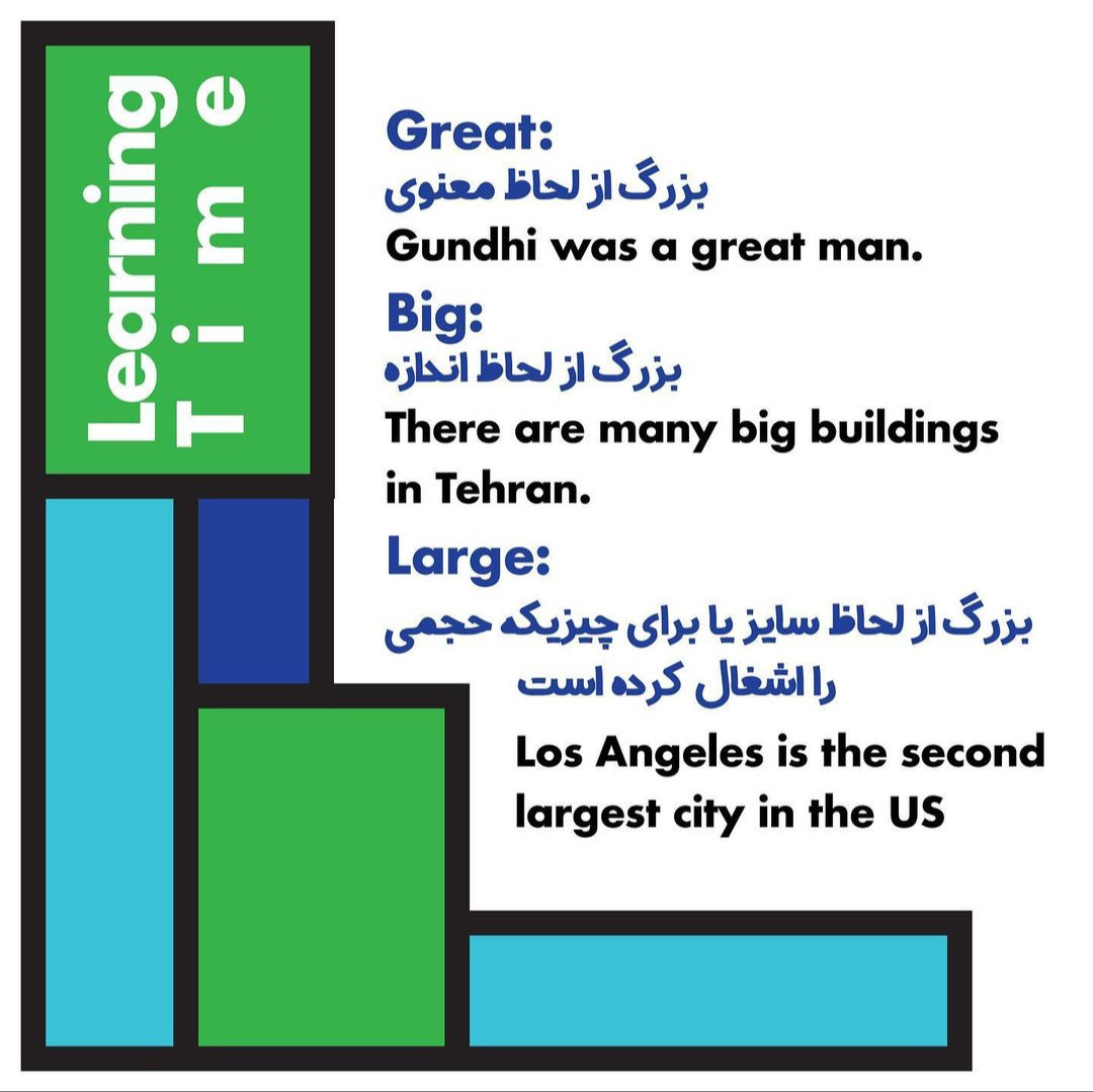 Daily 5: تفاوت های میان Great, Big, Large